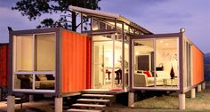 container home on stilts