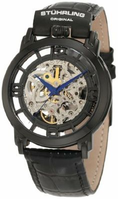 Stuhrling Original Men's 165F.33551 Classic Winchester General Automatic Skeleton Black Watch Stuhrling Original, http://www.amazon.com/dp/B00687E302/ref=cm_sw_r_pi_dp_k45Sqb112F3KH
