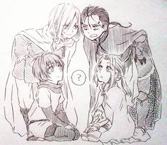 Arslan Senki | Narsus, Daryun, Elam (my little brother figure is cuter competition lol)