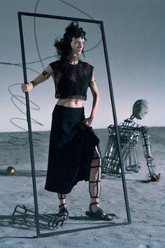 """Like a Warrior"" | Model: Mariacarla Boscono, Photographer: Tim Walker, Vogue Italia, March 2014"
