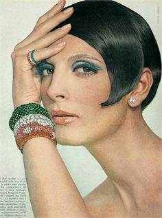 Photo by Giampaolo Barbieri 1965 Vogue Italia  (I taped my sideburns to my head at night! My haircut was just like this)