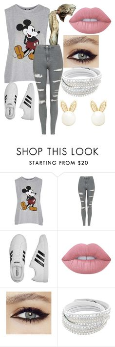 """Untitled #51"" by shadesofhemmo ❤ liked on Polyvore featuring Topshop, adidas, Lime Crime and Lipsy"