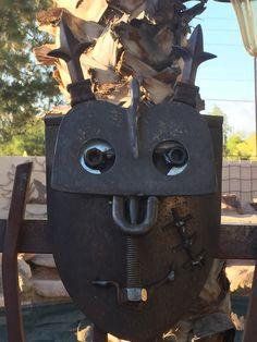 Shovel Head, Cutlery Art, Welded Art, Recycled Metal Art, Metal Yard Art, Bird Baths, Found Art, Art Object, Face Art