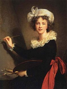Marie Antoinette's favorite artist -- Elisabeth-Louise Vigee-Lebrun:. Self-Portrait