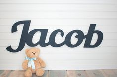 Extra large Wooden name sign would be perfect for a childs room or above a crib. We can customize any name or word. 1.)please indicate the