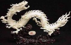 bone carving dragon carving