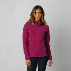 Prana Drea Jacket The prAna Drea Jacket is a lightweight, casual jacket perfect for  running, cross-training, and trips to and from yoga class. Fold-over cuffs are great for warming hands when the weather cools or you stop running.