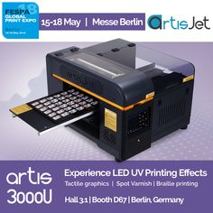 Variable data printing has never been easier from simple business experience the led uv printing effects with artisjet in fespa global print expo 2018 reheart Images