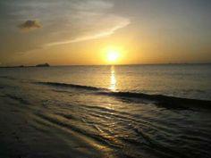 beautiful sunset trinidad