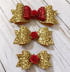 Image result for beauty and the beast inspired bows