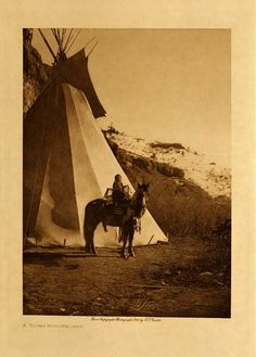 Edward S. Curtis's The North American Indian - volume 4 facing: page 26 A young horsewoman Native American Tribes, Native American History, Native Americans, American Life, Crow Indians, Edward Curtis, Spiritual People, University Of Southern California, Dancing In The Rain