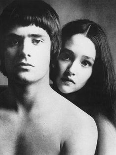 'Romeo and Juliet' stars Leonard Whiting and Olivia Hussey photographed by Karen Radkai for Vogue, October 1968.