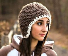 Hand Knit Hat Womens Hat  The Garter Helmet in Barley by pixiebell, $40.00