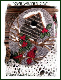 One Winter Day Punch Needle Pattern Download by Diane Knott LLC by DianeKnottLLC…