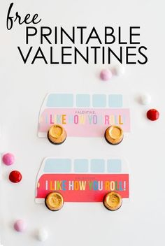 """Free Printable Valentines - super-cute """"I Like How You Roll"""" Valentines with Rolos!"""