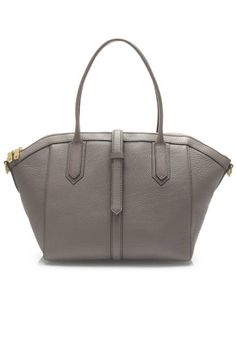 Bags to buy now: We love this classic gray leather shopper that goes with everything