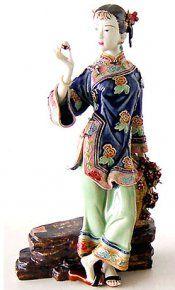 Figurines en porcelaine chinois de l'ancienne dame chinoise