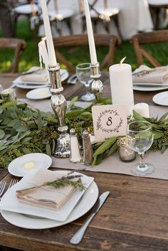 Barn weddings are super popular, you know why? Cause barns are cozy, cause such venues are charmingly rustic and sweet and also budget-friendly. wedding table setting 61 Cozy And Charming Barn Wedding Table Settings Rustic Wedding Decorations, Reception Decorations, Table Decorations, Wedding Rustic, Trendy Wedding, Wedding Ideas, Wedding Planning, Gold Wedding, Table Garland