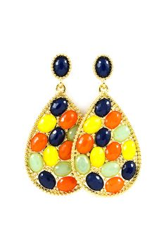 I love these for some reason. I think it's because they look like jelly beans. Pinot Earrings