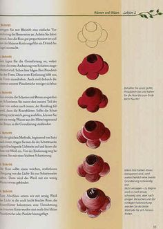 Bauernmalerei Book - example page showing traditional rose