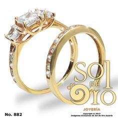 Dúo de boda en oro 14k RD$14,000