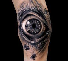 Black and Grey Eye Tattoo 2