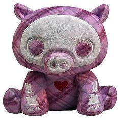 "Skelanimals 6"" Beanie Plush: Bill Pig"