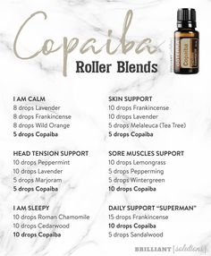 Pin on Essential Oils Pin on Essential Oils Copaiba Essential Oil, Essential Oils For Pain, Essential Oil Diffuser Blends, Essential Oil Uses, Easential Oils, Doterra Oils, Roller Bottle Recipes, Aromatherapy Oils, Young Living