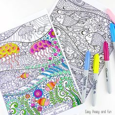 Under The Sea Coloring Pages for Adults - Easy Peasy and Fun