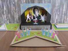 Konzertkarten Geschenkbox Explosionsbox Überraschungsbox Konzertbesuch Gutschein Concert Ticket Gift, Card In A Box, Craft Projects, Projects To Try, Surprise Box, Exploding Boxes, Stamping Up, Diy Gifts, Toy Chest