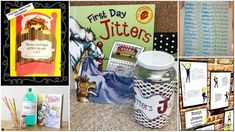 15 First Day Jitters Activities to Calm Back-to-School Nerves Jitter juice, jitter glitter, and more! First Day Of School Activities, First Day School, Beginning Of The School Year, School Games, Back To School, Book Activities, Preschool Activities, School Stuff, First Grade Jitters