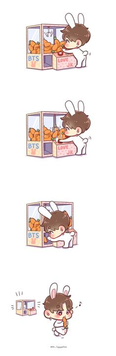 Omg such cute fanart Jungkook Fanart, Kpop Fanart, Bts Bangtan Boy, Bts Chibi, Anime Chibi, Anime Manga, Foto Bts, Cartoon Wallpaper, Bts Wallpaper