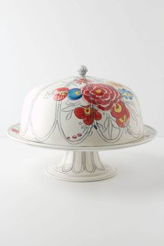 Peony Portrait Domed Cake Stand - molly hatch