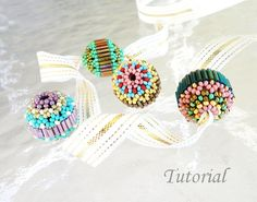 PDF for Beaded Bead with Bugles beading tutorial  -  beadweaving beading pattern - beadwoven seed bead jewelry