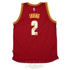KYRIE IRVING Autographed Cleveland Cavaliers Red Alternate Swingman Jersey PANINI - Game Day Legends