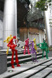 """Kurt Laurenz Metzler - installation """"Urban People"""""""