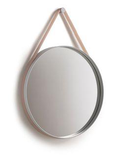 strap mirror in peach silicone   property, ny