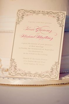 Vintage Glam Wedding - Invitation, Response Card, Reception Card - DEPOSIT