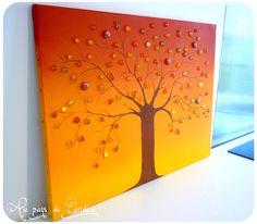 Tableau arbre d'automne (TUTO sur le blog)
