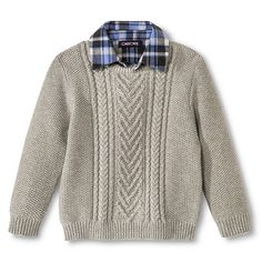 Toddler Boys' Pullover Sweater - Charcoal - Cherokee
