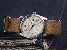 Vintage Rolex 1603 Datejust silver dial 1978