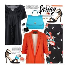 """Spring Office Style (work wear)"" by beebeely-look ❤ liked on Polyvore featuring River Island, Urban Decay, Dolce&Gabbana, Burberry, Chanel, WorkWear, formal, sammydress, springfashion and officestyle"