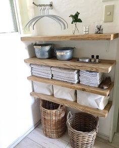 Many people consider the kitchen to be the heart of the home. Bringing this area of your home up-to-date to create a warm and inviting area for your entire Decor, Home Diy, Diy Shelves, Bathroom Styling, Bathroom Decor, Interior, Laundry In Bathroom, Home Decor, House Interior