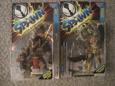 McFARLANE SPAWN SERIES 8 RENEGADE & SABRE 1997 CARDED ACTION FIGURES LOT #McFarlaneToys