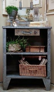 interesting drawer, wonder if there once was doors ~ I'm in love!