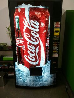 I'm really excited about this idea. Soda Vending Machine, Vending Machines, Soda Machines, Must Have Items, Coke, Coca Cola, Arcade, Pop Culture, Design Ideas