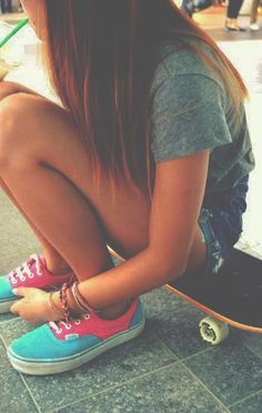 I like her shoes. Skateboard love longboard girl awesome Lucy in the sky drink amazing fun