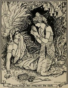 The Story of the Yara - The Brown Fairy Book by Andrew Lang, 1904 Ink Illustrations, Illustration Art, Pop Art, Fairy Art, Female Art, Art Inspo, Vintage Art, Illustrators, Renaissance