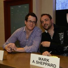 Jeremy Carver and Mark Sheppard #ComicCon2012