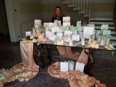Me at Work...in a private villa...with splendid favours on a cristal table...all made by me... Info@ferraliweddingplanner.com